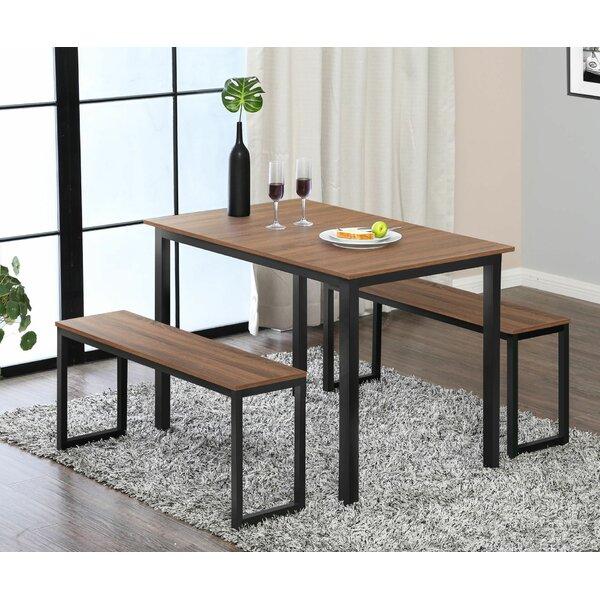 Ferranti 3 Piece Solid Wood Dining Set by Union Rustic Union Rustic