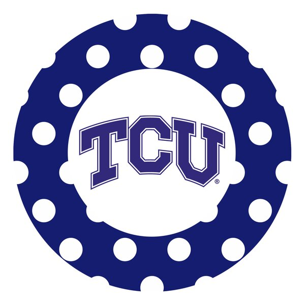 Texas Christian University Dots Collegiate Coaster (Set of 4) by Thirstystone
