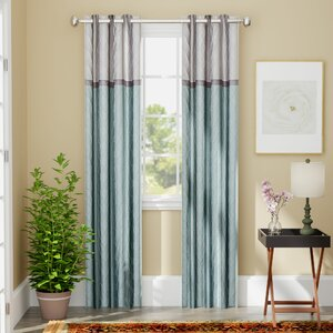 Rothsville Geometric Max Blackout Grommet Single Curtain Panel