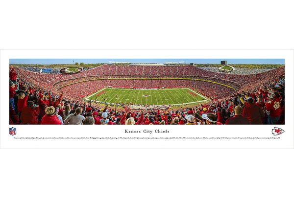 NFL Kansas City Chiefs - 50 Yard Line Day by James Blakeway Photographic Print by Blakeway Worldwide Panoramas, Inc