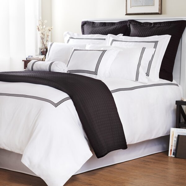 Baratto with Triple Embroidered Stripes Duvet Cover Collection by Wildon Home ®