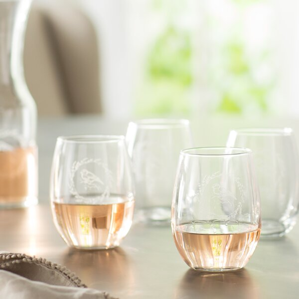 Arquette 21 Oz. Stemless Wine Glass (Set of 4) by Ophelia & Co.