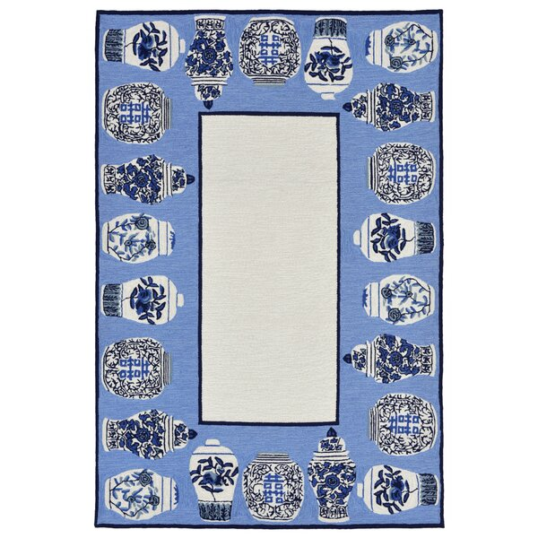 Ardelle Ginger Jars Handmade Tufted Blue Indoor/Outdoor Area Rug by Bloomsbury Market