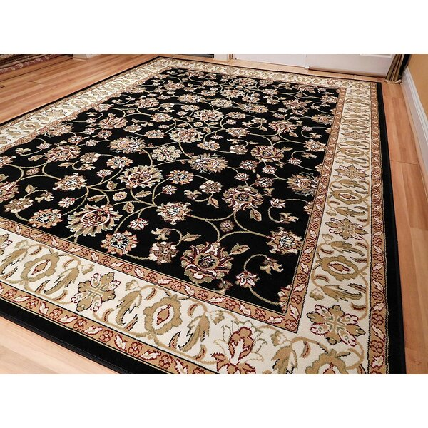 Rensselear Wool Black Indoor/Outdoor Area Rug by Charlton Home