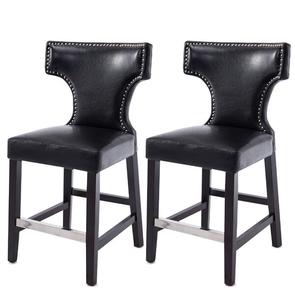 Laughing Sun 24 Bar Stool (Set of 2) by Red Barrel Studio