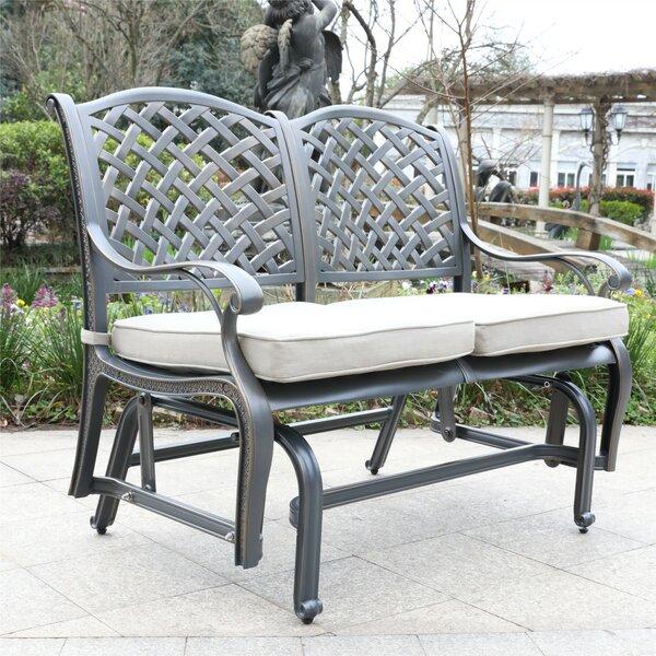 Waddington Cast Aluminum Glider Bench by Fleur De Lis Living