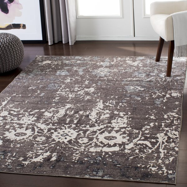 Stephan Distressed Light Brown/Ivory Area Rug by Ophelia & Co.