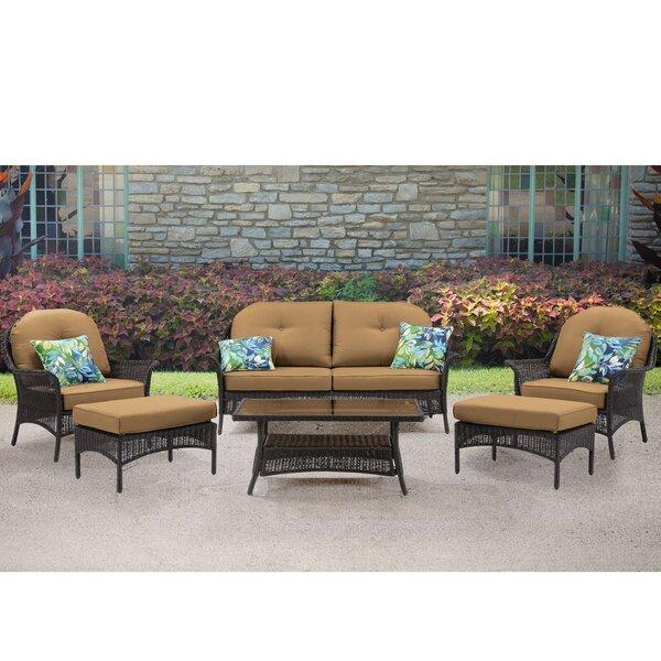 Annika 6 Piece Sofa Set with Cushions by Bayou Breeze