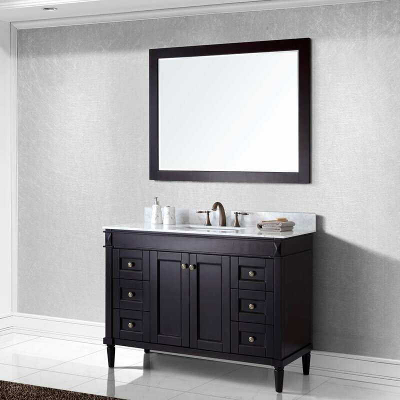 Virtu Usa Tiffany Single Bathroom Vanity Set Reviews Wayfair Vanities Birmingham Al