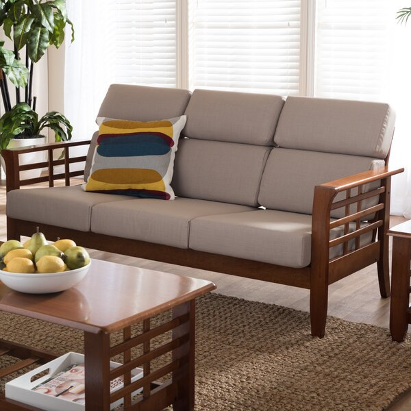 Baxton Studio Armanno 3 Seater Living Room Sofa by Wholesale Interiors