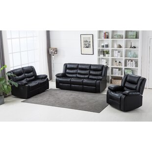 Castlereagh Faux Leather Reclining Living Room Set by Winston Porter
