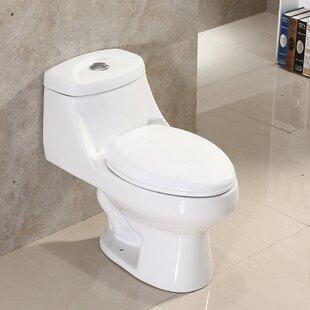 Dual Flush Elongated One-Piece Toilet ByWoodBridge