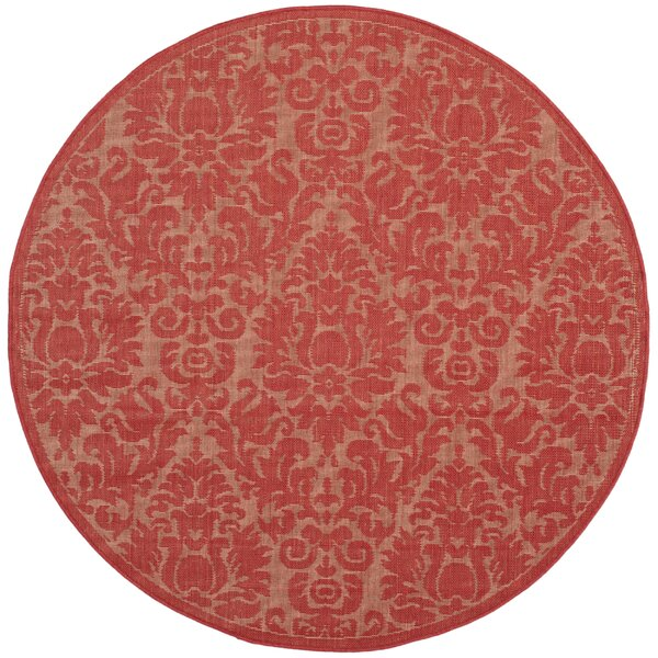 Catori Red Solid Outdoor Area Rug by World Menagerie