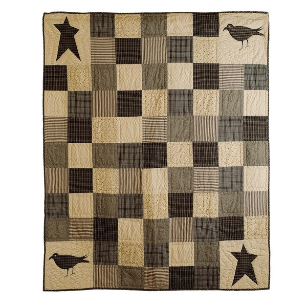 Millicent Crow and Star Cotton Throw by August Grove