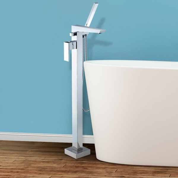 Bolzano Single Handle Floor Mounted Freestanding Tub Filler Trim by Finesse Finesse