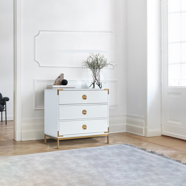 Lavin 3 Drawer Nightstand by Everly Quinn