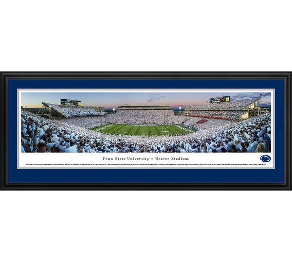 NCAA Penn State University - Sunset by Christopher Gjevre Framed Photographic Print by Blakeway Worldwide Panoramas, Inc