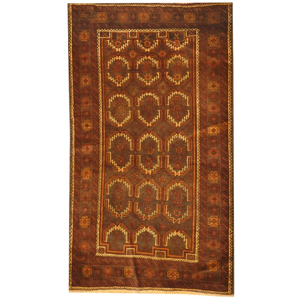 Prentice Hand Knotted Wool Brown/Ivory Area Rug by Isabelline