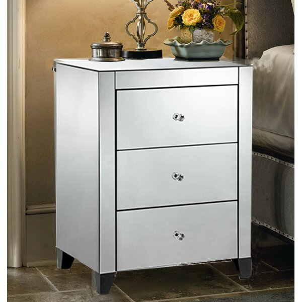 Templeton 3 Drawer Nightstand by House of Hampton