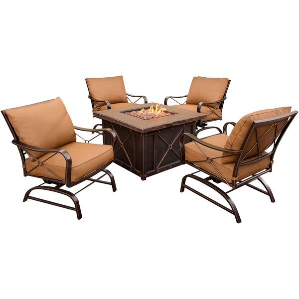 Burrows Bay 5 Piece Conversation Set with Cushions by Fleur De Lis Living