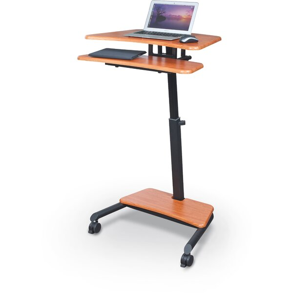 Up-Rite AV Cart with Sit/Stand Desk by Balt