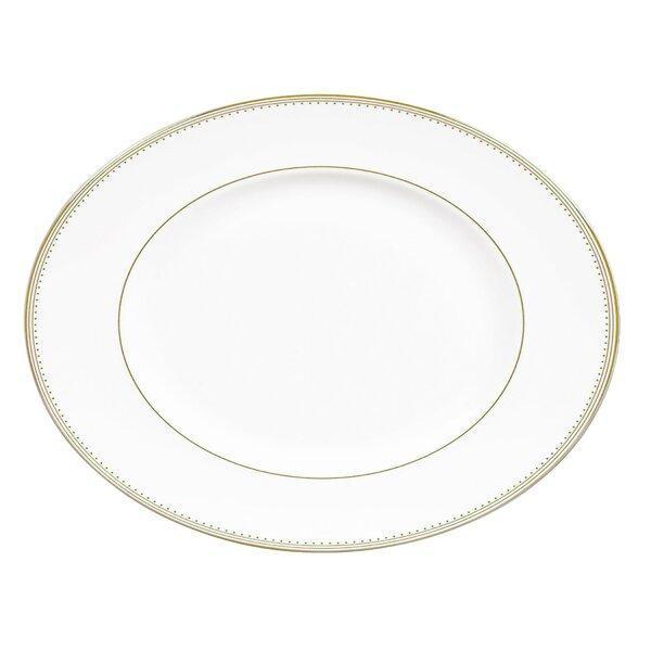 Grosgrain Oval Platter by Vera Wang