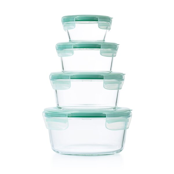 Good Grips SNAP Glass Round 8 Piece Container Food Storage Set by OXO