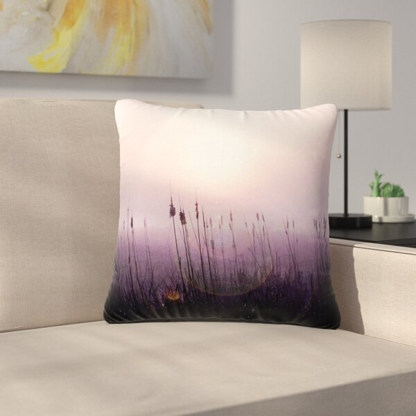 Angie Turner Sunrise Cattails Outdoor Throw Pillow by East Urban Home