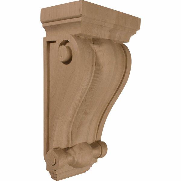 Cole 14H x 7 1/2W x 4 1/2D Pilaster Wood Corbel in Alder by Ekena Millwork