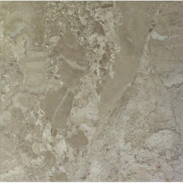 Diana Royal 18 x 18 Marble Field Tile in Beige by Seven Seas