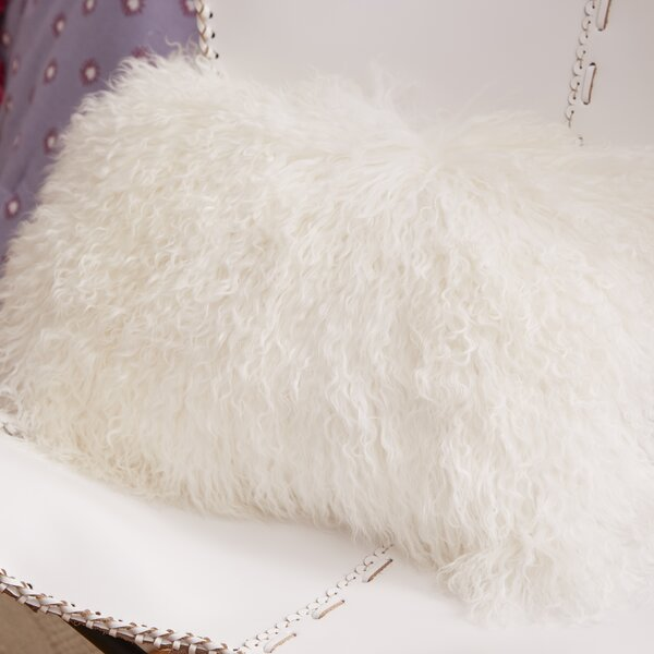 Becky Fur Lumbar Pillow by Zipcode Design