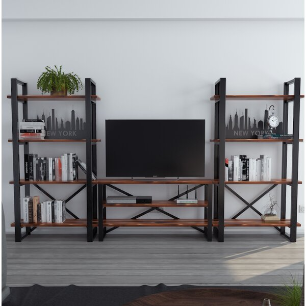 Argueta New York Modern Rustic Iron Entertainment Center by Foundry Select