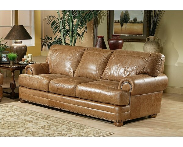 Houston Leather Sleeper Sofa by Omnia Leather