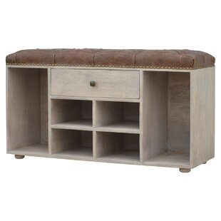 Affordable Shoe Cabinet with Upholstered Deep Buttoned Top By17 Stories