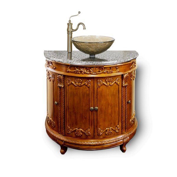 Byrdhill Semi-Circle 36 Single Bathroom Vanity by Fleur De Lis Living