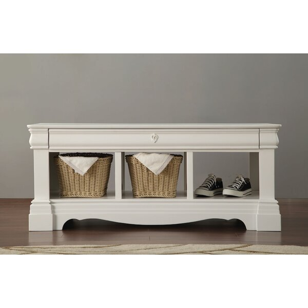 Eustice Wood Storage Bench by Harriet Bee