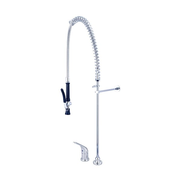 Single Handle Pre-Rinse Kitchen Faucet by Central Brass