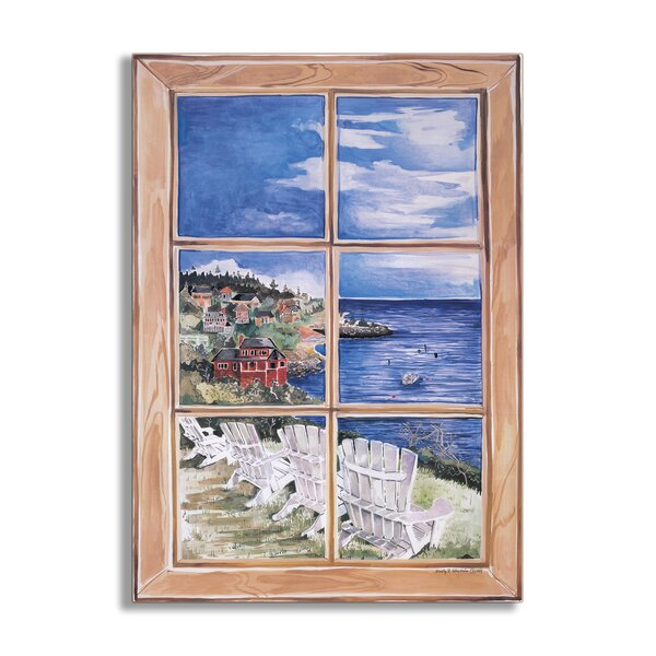 White Chairs Faux Window Scene Wall Plaque by Stupell Industries