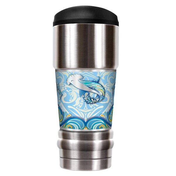 Shark Shimmy 18 oz. Stainless Steel Travel Tumbler by Great American Products