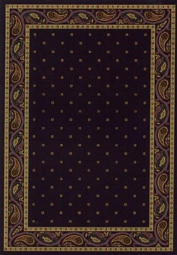 Innovation Eggplant Paisley Area Rug by Milliken