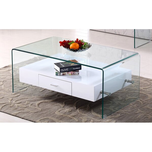 Jurida Glass Top Coffee Table by Orren Ellis Orren Ellis
