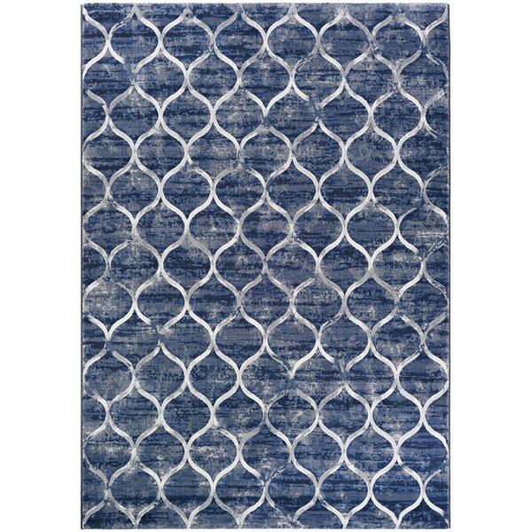 Semple Blue Area Rug by Mercer41