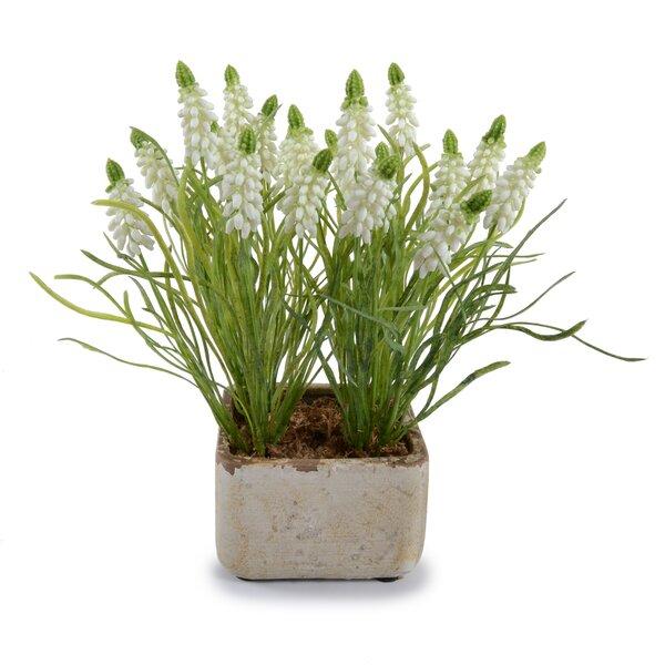 Bouquet Faux Hyacinth Floral Arrangement in Pot by New Growth Designs