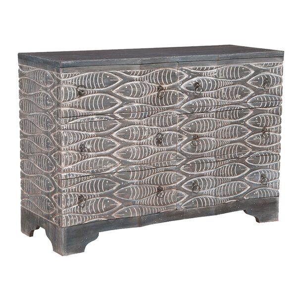 Enrico 6 Drawer Dresser by Bloomsbury Market