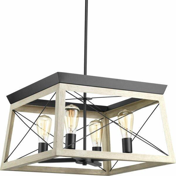 Delon 4-Light Square/Rectangle Chandelier by Laurel Foundry Modern Farmhouse