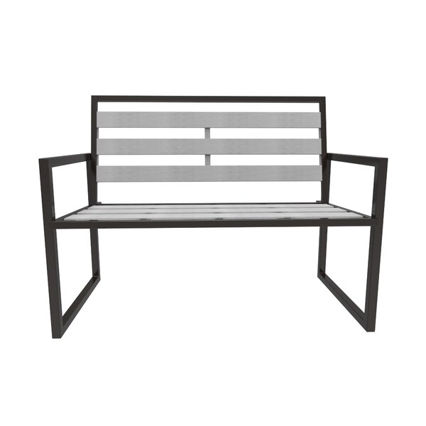 Dolton Steel Garden Bench by Ivy Bronx