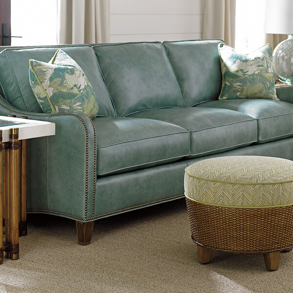 Exellent Quality Twin Palms Leather Sofa by Tommy Bahama Home by Tommy Bahama Home