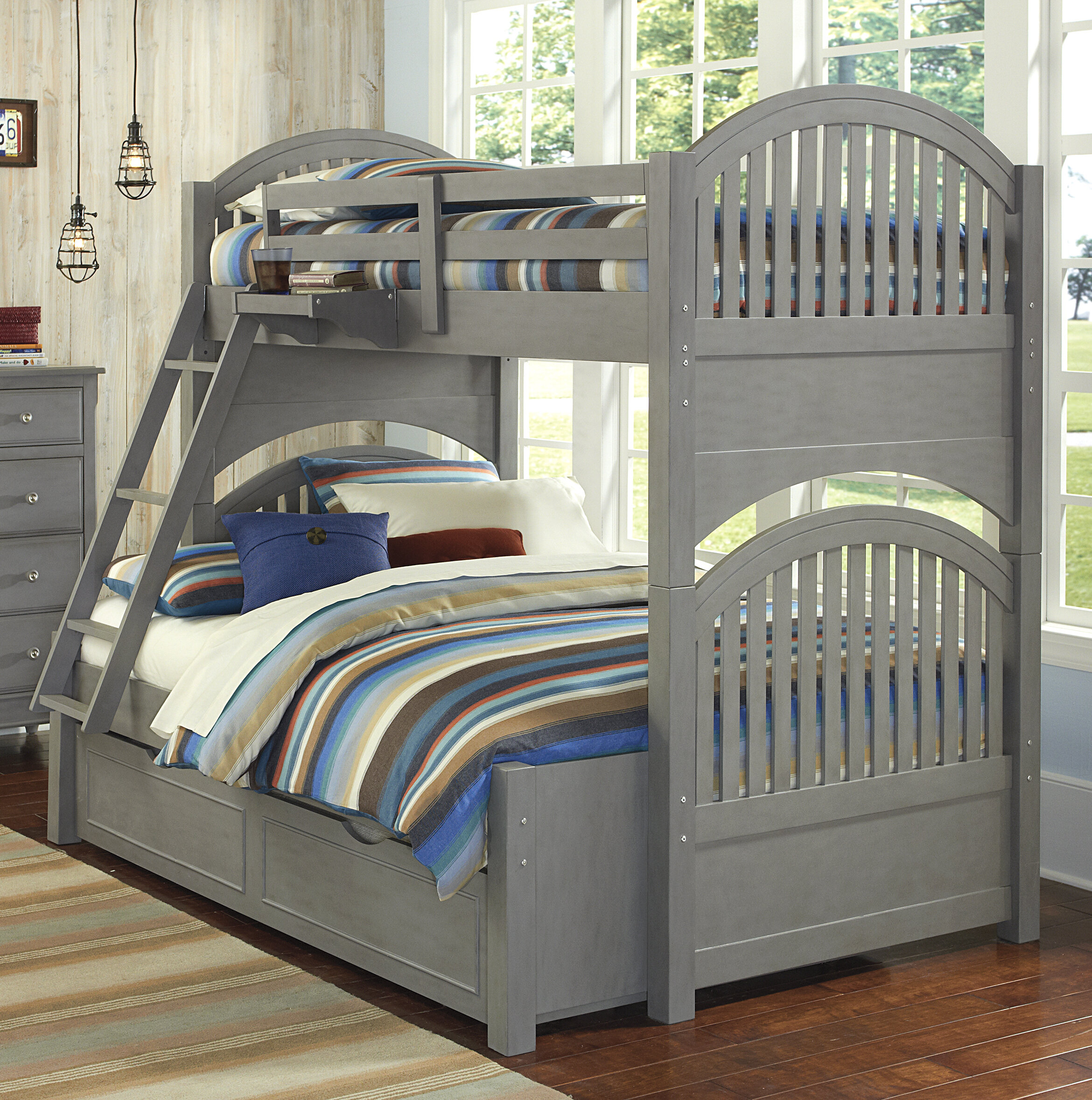 Harriet Bee Javin Twin Over Full Bunk Bed With Trundle