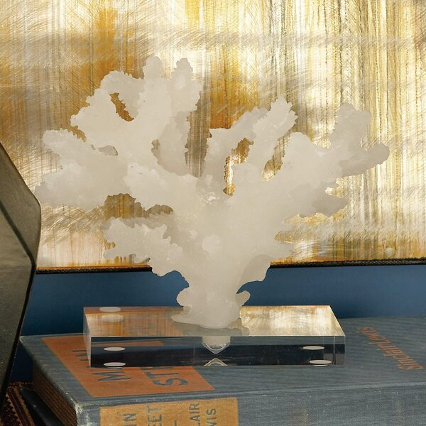 Anderle Coastal Coral Sculpture by Highland Dunes