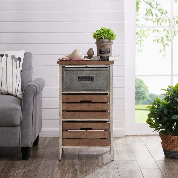 Epstein Crates 3 Drawer End Table by Gracie Oaks